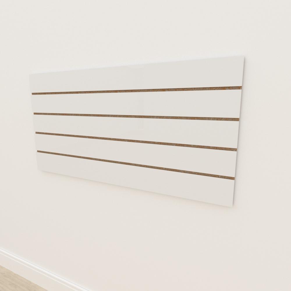 Painel canaletado 18mm Branco Texturizado altura 60 cm comp 120 cm