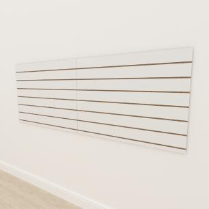 Painel canaletado 18mm Branco Texturizado altura 90 cm comp 240 cm