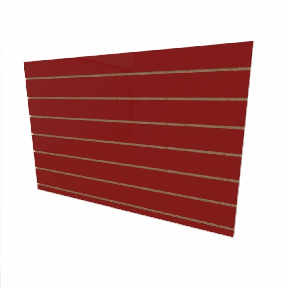 Expositor canaletado 18mm Vermelho Escuro Tx altura 90 cm comp 135 cm