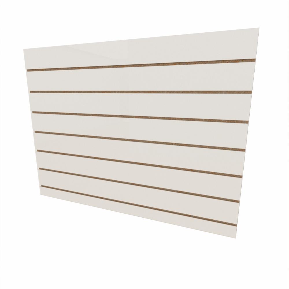 Expositor canaletado 18mm Branco Texturizado altura 90 cm comp 120 cm