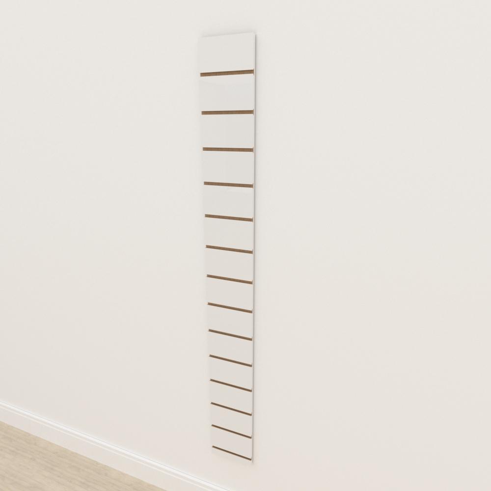 Painel canaletado 18mm Branco Texturizado altura 180 cm comp 20 cm