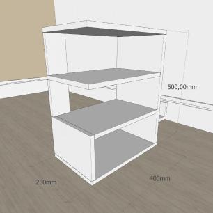 Mesa Lateral para sofá minimalista com nicho em mdf Branco