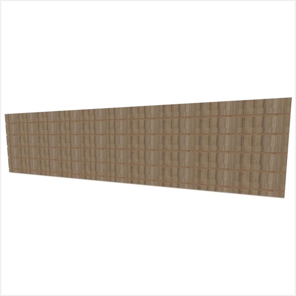 Expositor canaletado 18mm amadeirado escuro altura 60 cm comp 270 cm