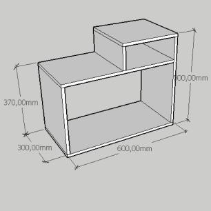 Mesa de cabeceira simples com nicho em mdf preto