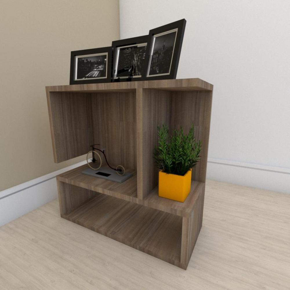 Estante escritório simples em mdf Amadeirado