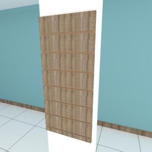 Painel canaletado para pilar amadeirado escuro 1 peça 40(L)x90(A)cm
