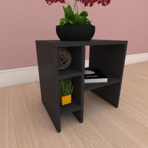 Mesa de centro simples em mdf preto