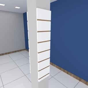 Kit 2 Painel canaletado para pilar branco 2 peças 20(L)x90(A)cm