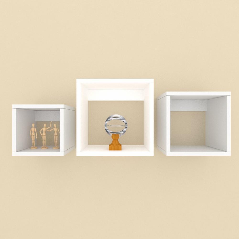 Nichos multi uso, moderno, mdf cinza com branco