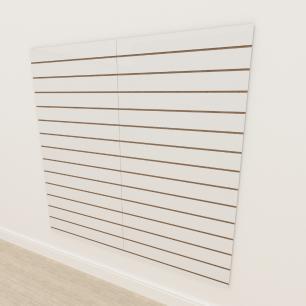Painel canaletado 18mm Branco Texturizado altura 180 cm comp 180 cm