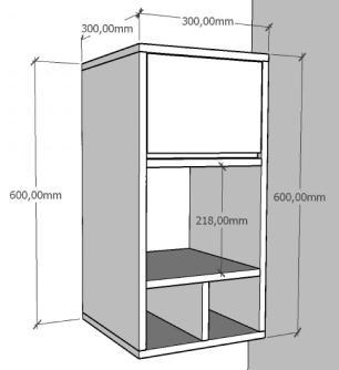 Armario para cozinha ou banheiro amadeirado claro