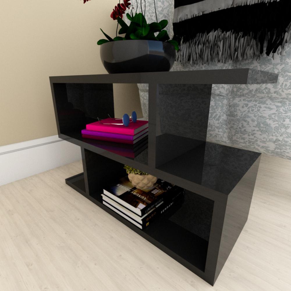 Kit com 2 Mesa de cabeceira preto