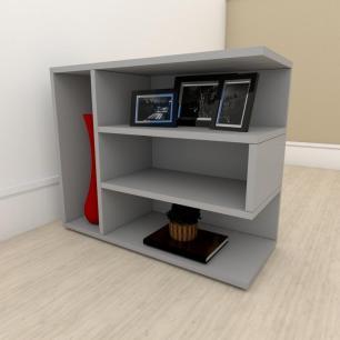 kit com 2 Mesa de cabeceira simples em mdf Cinza