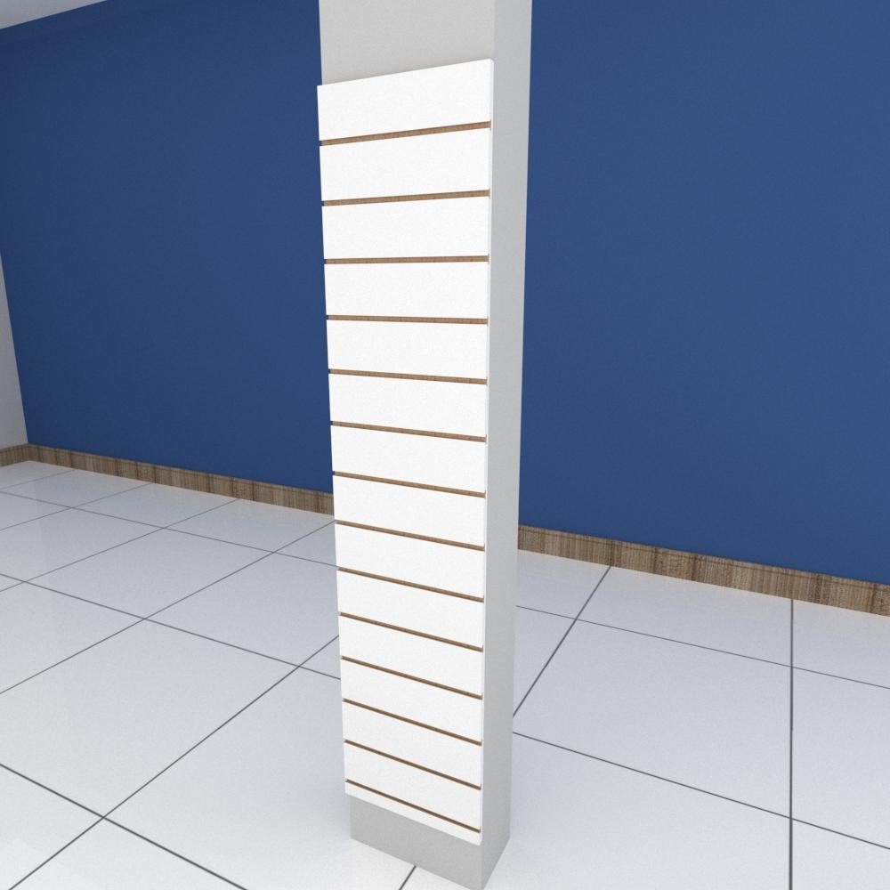 Painel canaletado para pilar branco 1 peça 40(L)x180(A)cm