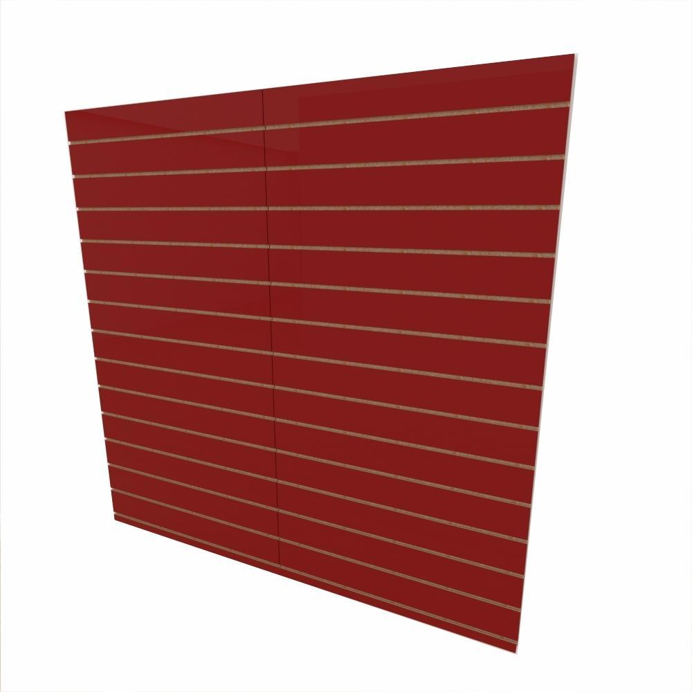 Expositor canaletado 18mm Vermelho Escuro Tx altura 180 cm comp 180 cm