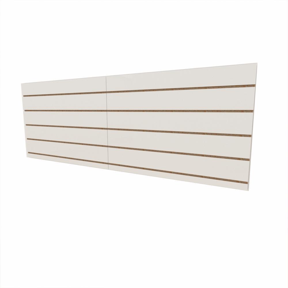 Expositor canaletado 18mm Branco Texturizado altura 60 cm comp 180 cm