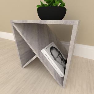 Mesa lateral sofá design, mesa de canto, em mdf Rustico