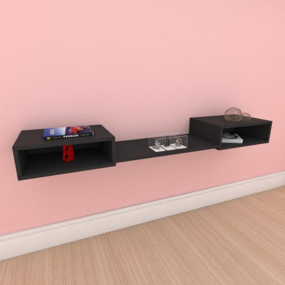 Aparador minimalista moderno com prateleira em mdf preto