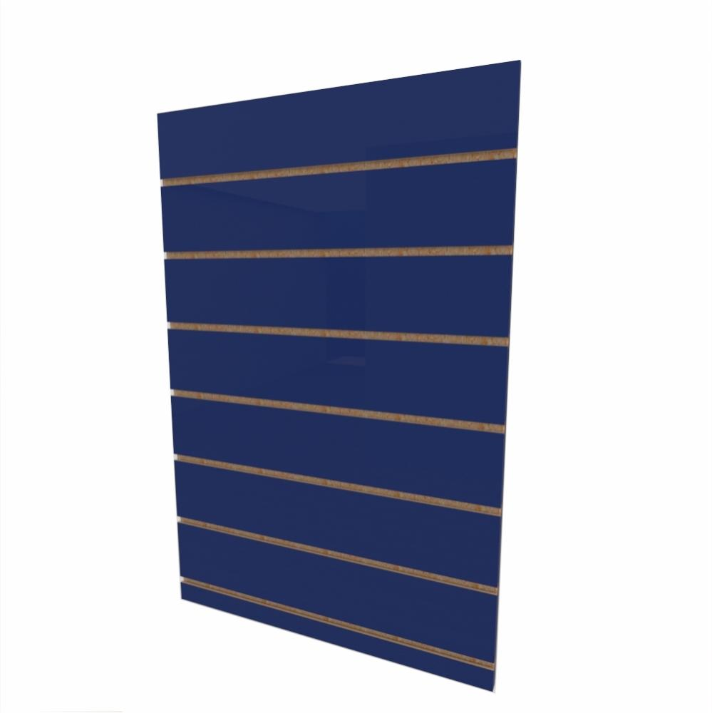 Expositor canaletado 18mm Azul Escuro Soft altura 90 cm comp 60 cm