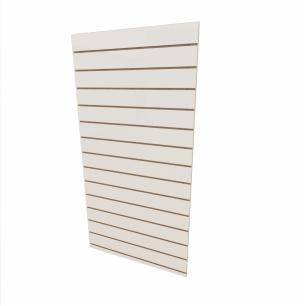 Expositor canaletado 18mm Branco Texturizado altura 180 cm comp 90 cm