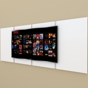 Painel Tv pequeno moderno Branco