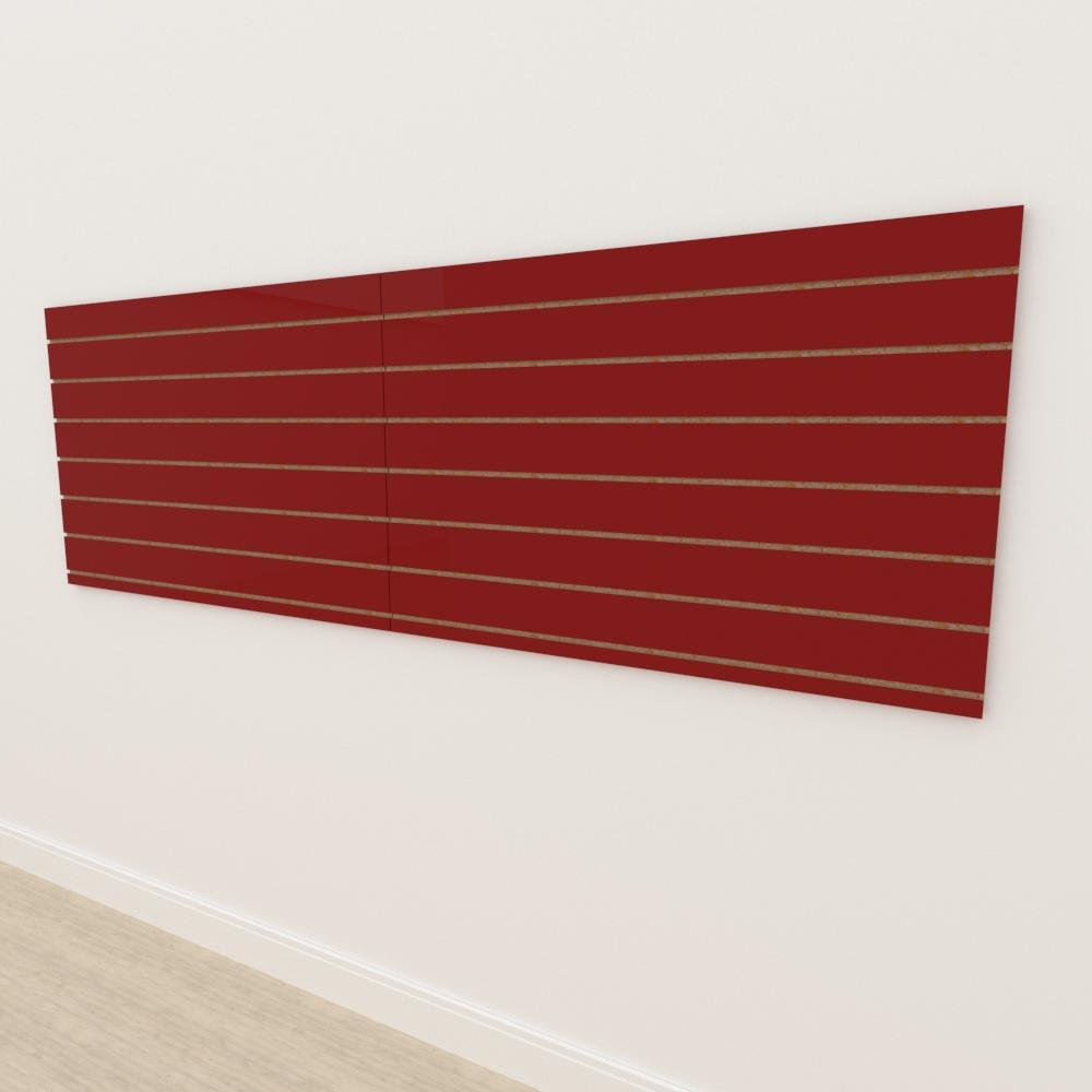 Painel canaletado 18mm Vermelho Escuro Tx altura 90 cm comp 270 cm