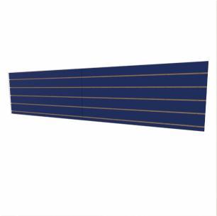 Expositor canaletado 18mm Azul Escuro Soft altura 60 cm comp 270 cm