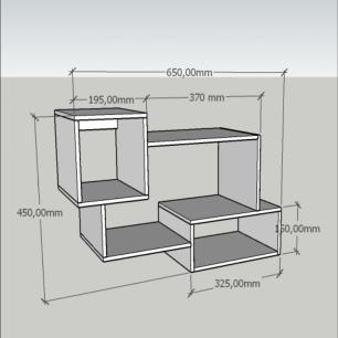 Kit de Nichos multi uso, moderno, todos em mdf Rustico