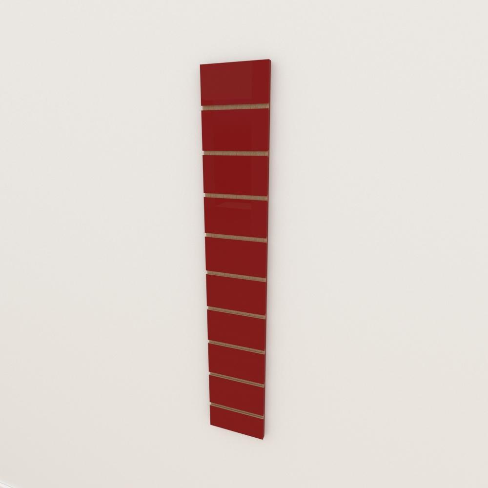 Painel canaletado 18mm Vermelho Escuro Tx altura 120 cm comp 20 cm