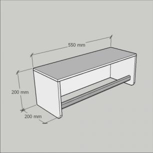 Kit com 2 cabide para closet, mdf Amadeirado claro