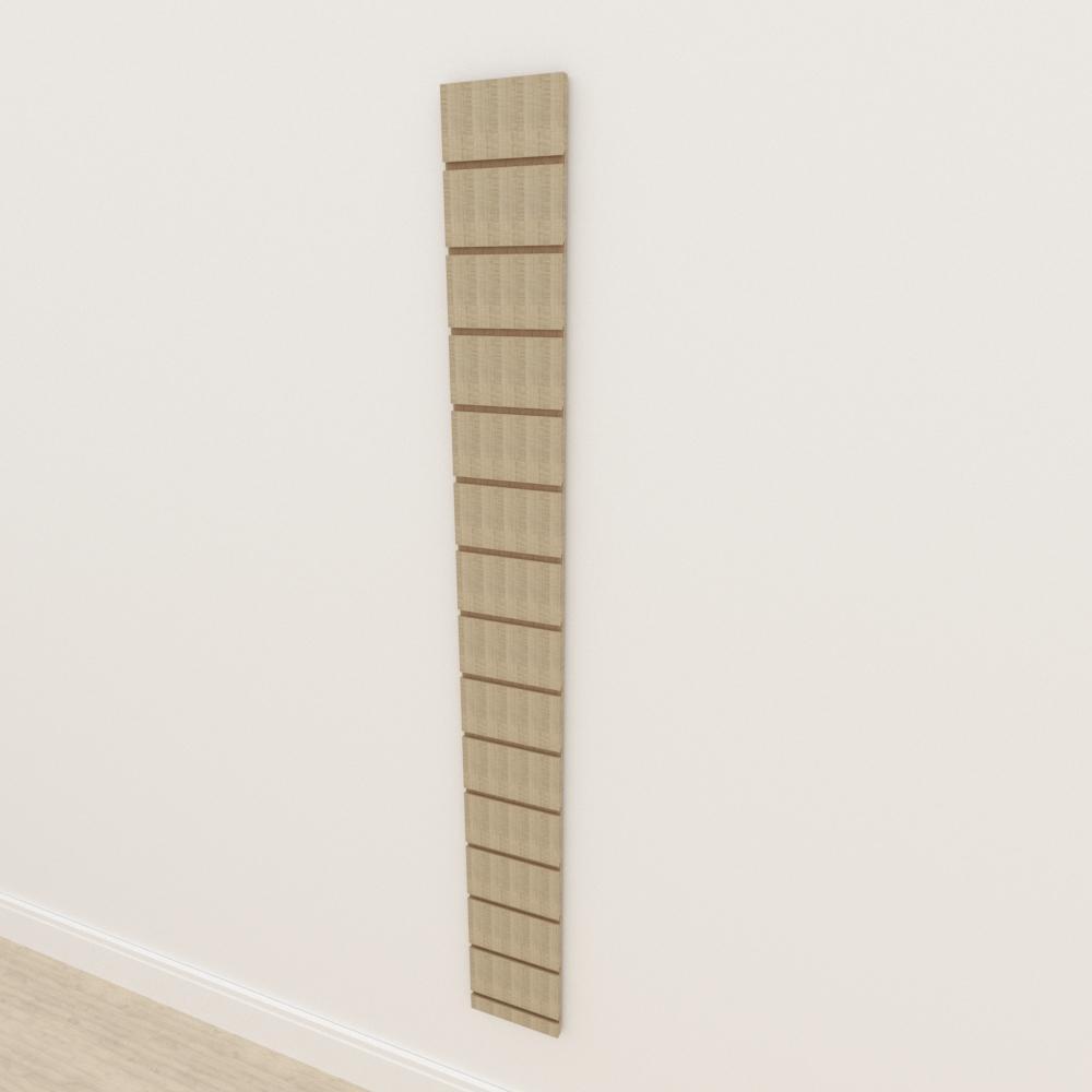Painel canaletado 18mm amadeirado claro altura 180 cm comp 20 cm