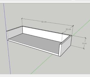 Prateleira, nichos modernos, em mdf 50x20 Cinza