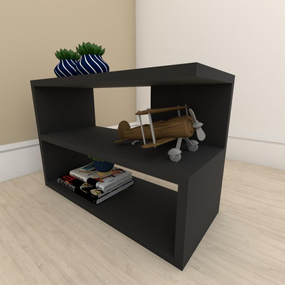 Mesa Lateral para sofá slim em mdf Preto