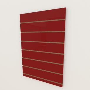 Painel canaletado 18mm Vermelho Escuro Tx altura 90 cm comp 60 cm