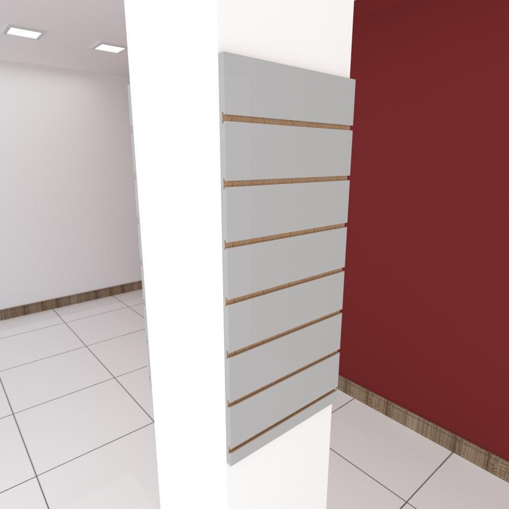 Kit 2 Painel canaletado para pilar cinza cristal 2 peças 40(L)x90(A) cm
