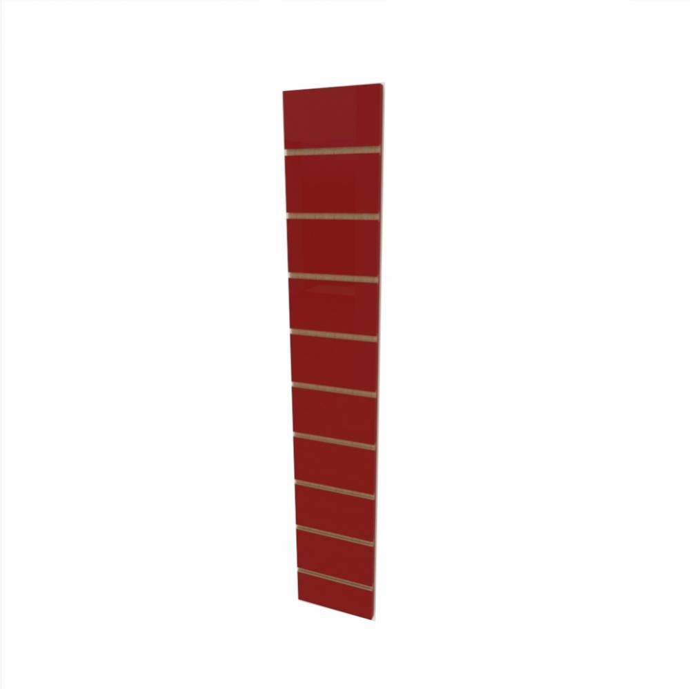 Expositor canaletado 18mm Vermelho Escuro Tx altura 120 cm comp 20 cm