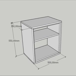 Criado mudo, mesa de cabeceira, em mdf cor preto com branco