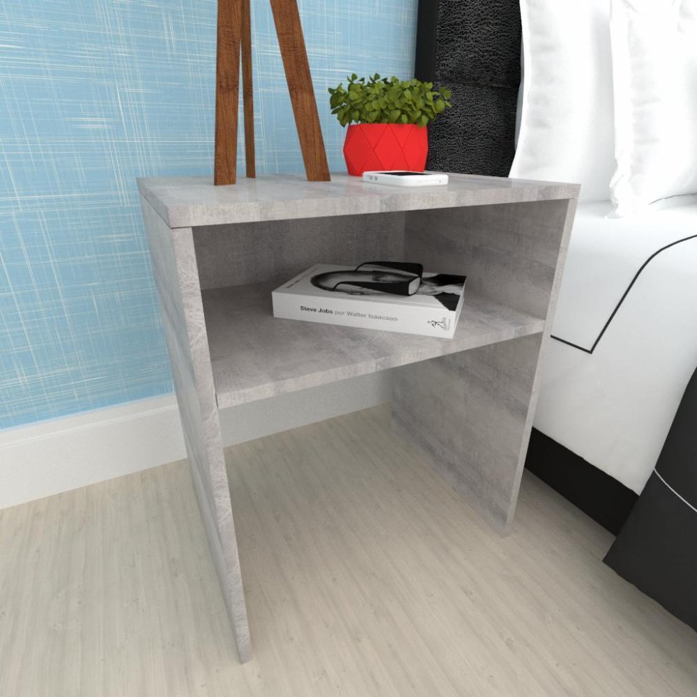 Kit com 2 Criado mudo, mesa de cabeceira em mdf Rustico
