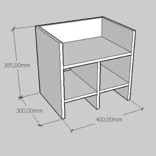 Mesa de centro slim em mdf branco