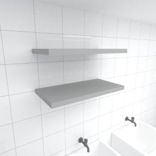 Kit 2 prateleiras para lavanderia em MDF suporte Inivisivel cinza 60x30cm modelo pratlvc23