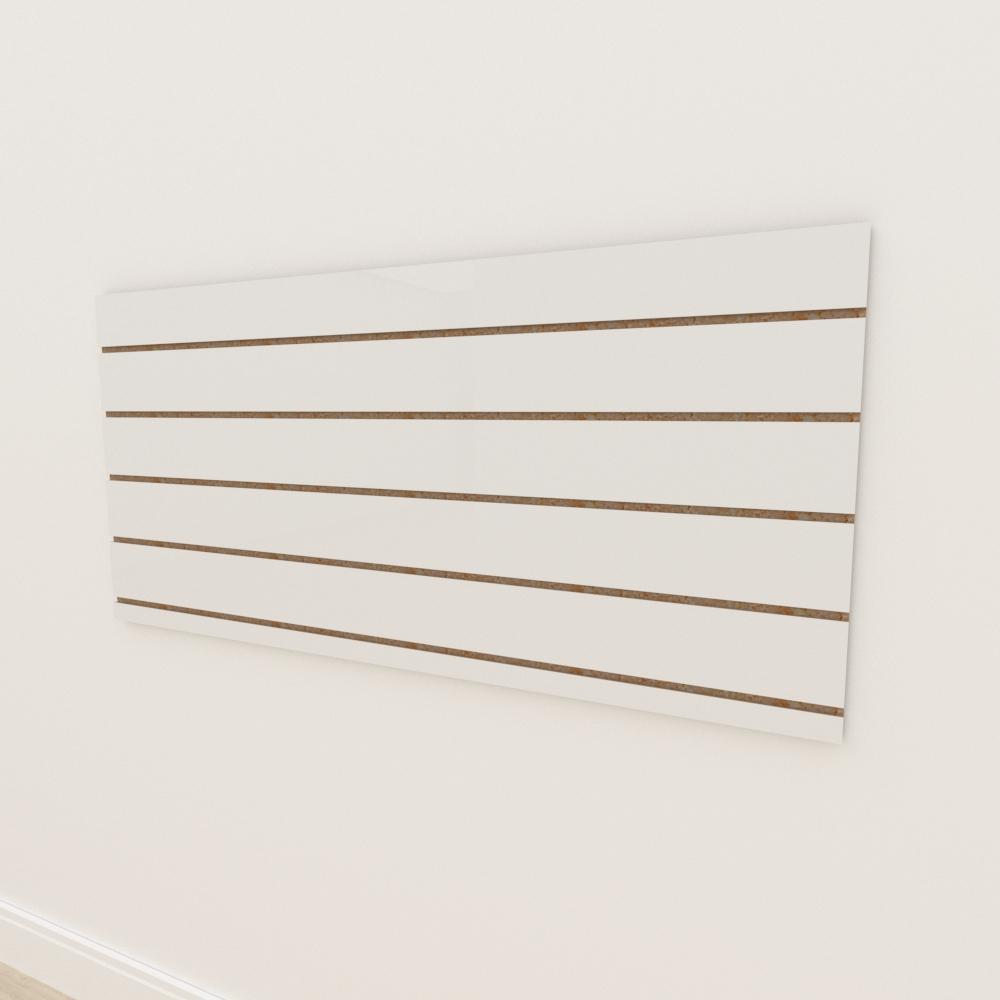 Painel canaletado 18mm Branco Texturizado altura 60 cm comp 135 cm