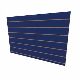Expositor canaletado 18mm Azul Escuro Soft altura 90 cm comp 135 cm