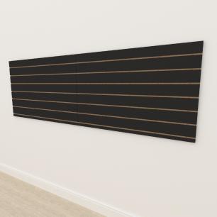 Painel canaletado 18mm Preto Texturizado altura 90 cm comp 270 cm