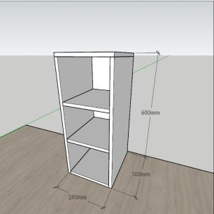 Estante escritório formato simples em mdf Preto