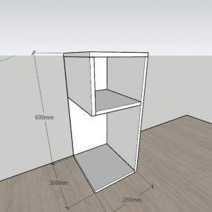 Estante escritório formato minimalista em mdf Preto