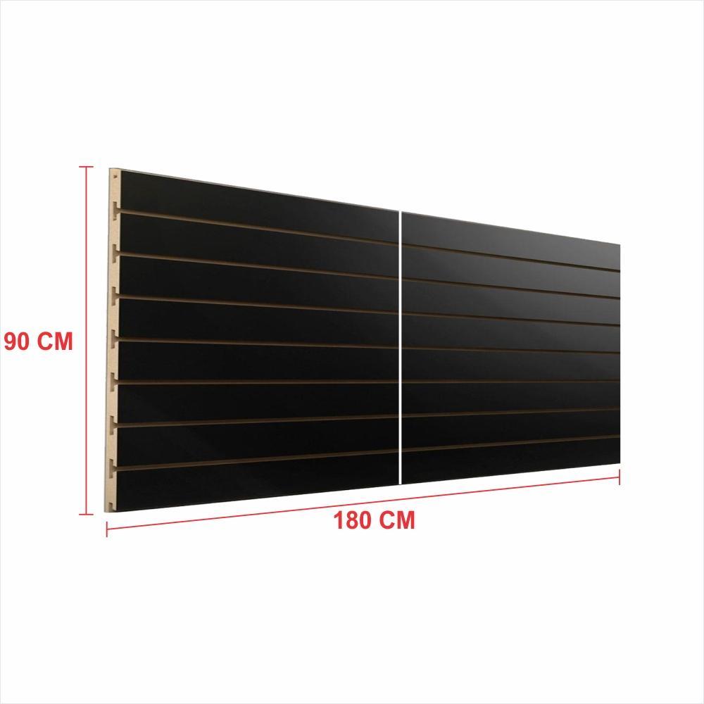 Painel canaletado 18mm preto altura 90 cm comp 180 cm