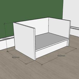 Mesa de cabeceira bercinho para cachorro em mdf Preto