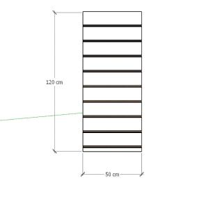 Painel canaletado para pilar branco 1 peça 50(L)x120(A)cm