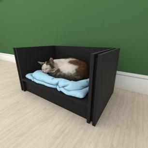 Mesa de cabeceira camapet para Gato em mdf Preto
