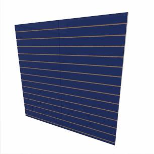 Expositor canaletado 18mm Azul Escuro Soft altura 180 cm comp 180 cm